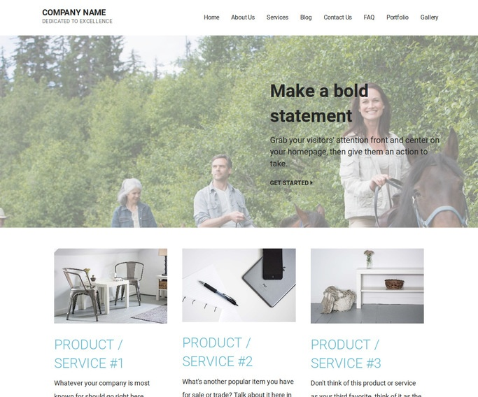 Mins Horse Rentals WordPress Theme