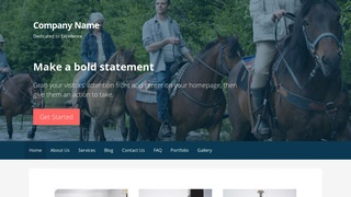 Primer Horse Rentals WordPress Theme