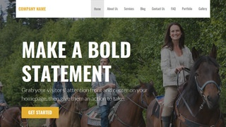 Stout Horse Rentals WordPress Theme