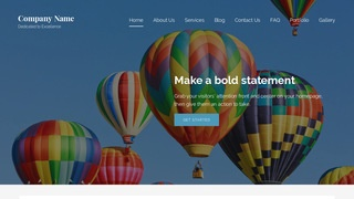 Lyrical Hot Air Balloons WordPress Theme