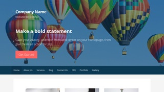 Primer Hot Air Balloons WordPress Theme
