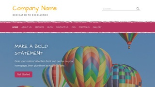 Scribbles Hot Air Balloons WordPress Theme