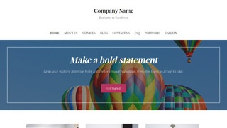 Uptown Style Hot Air Balloons WordPress Theme
