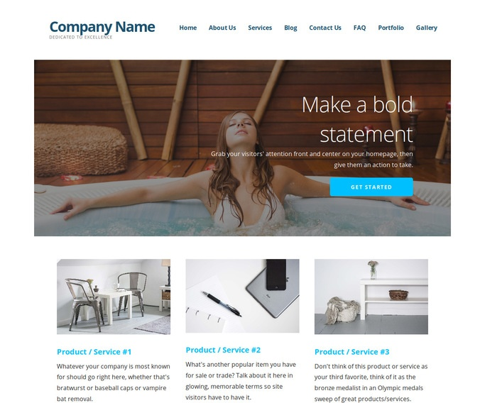Ascension Hot Tubs, Spas and Pools WordPress Theme