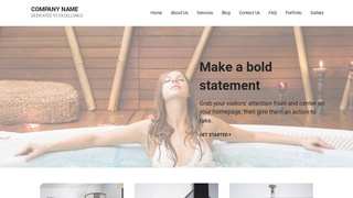 Mins Hot Tubs, Spas and Pools WordPress Theme