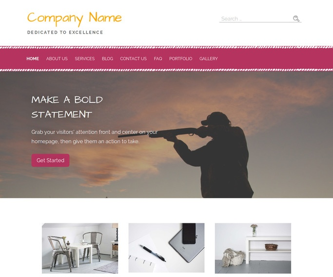Scribbles Hunting and Fishing Store WordPress Theme