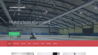 Activation Ice Skating Rink WordPress Theme