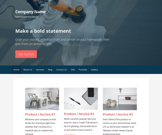 Primer Commercial Cleaning Service WordPress Theme