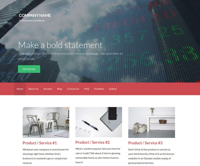 Activation Investment Bank WordPress Theme