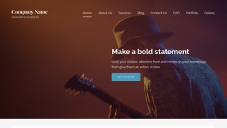 Lyrical Jazz or Blues WordPress Theme