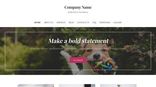 Uptown Style Kennel WordPress Theme