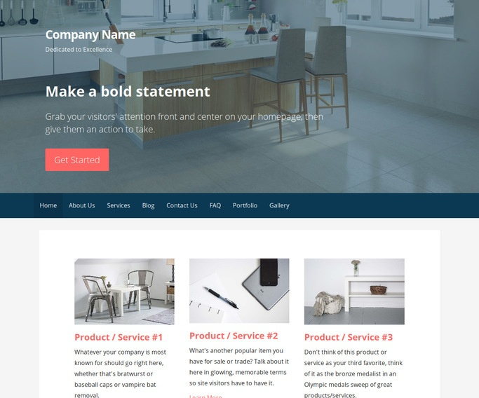 Primer Kitchen Cabinet Store WordPress Theme
