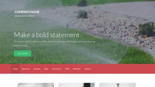 Activation Lawn Sprinklers WordPress Theme
