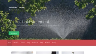Activation Lawn Sprinkler Contractor WordPress Theme