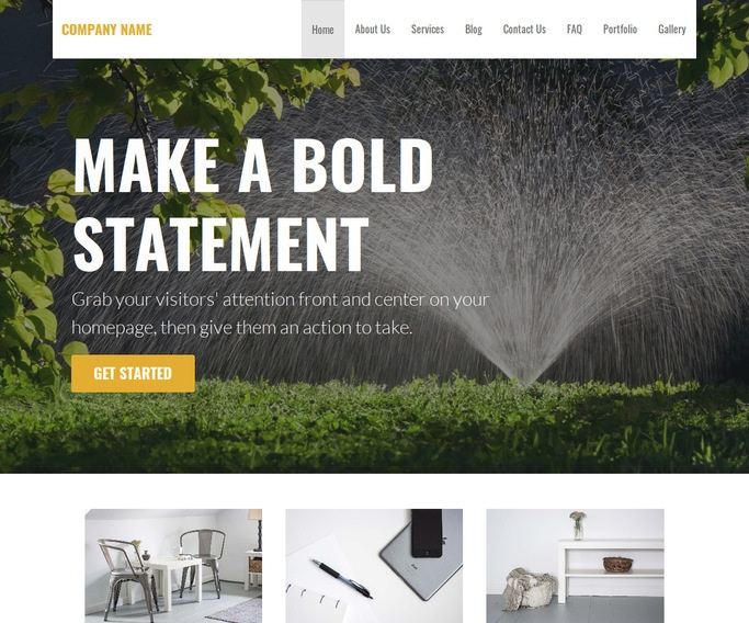 Stout Lawn Sprinkler Contractor WordPress Theme