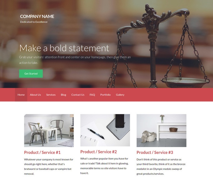 Activation Legal Service WordPress Theme