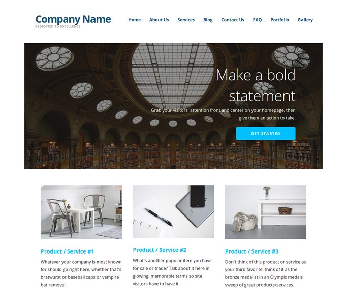 Ascension Library WordPress Theme