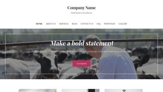 Uptown Style Livestock Dealer WordPress Theme