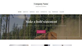 Uptown Style Logging Services WordPress Theme