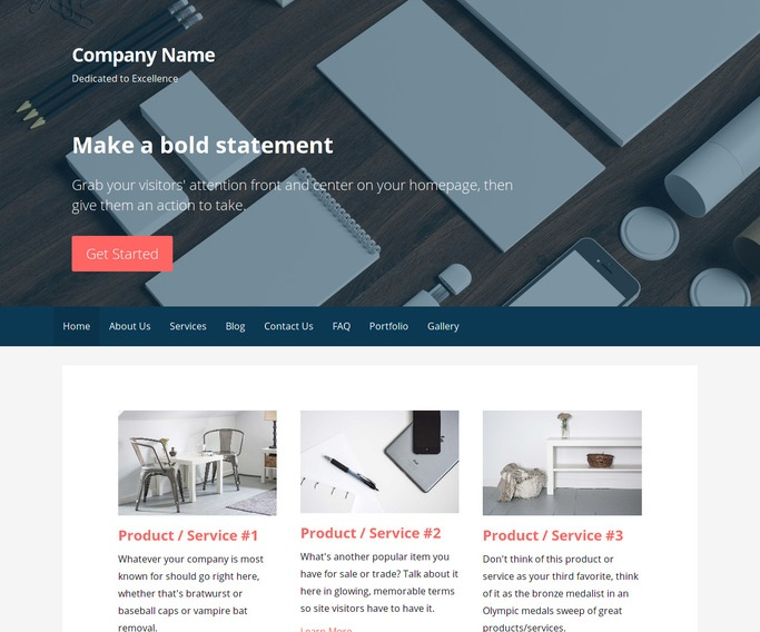 Primer Marketing Consultant WordPress Theme