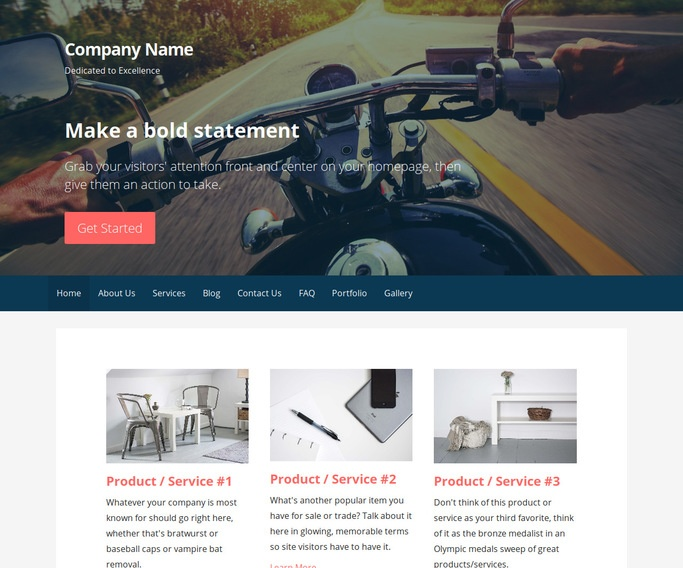 Primer Motorcycle Parts and Accessories WordPress Theme