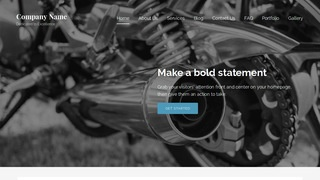 Lyrical Motorcycle Repair WordPress Theme