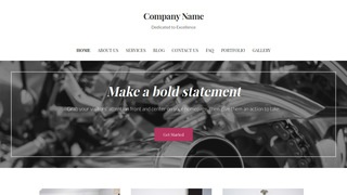 Uptown Style Motorcycle Repair WordPress Theme