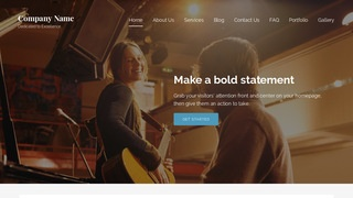 Lyrical Musician WordPress Theme