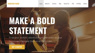 Stout Musician WordPress Theme
