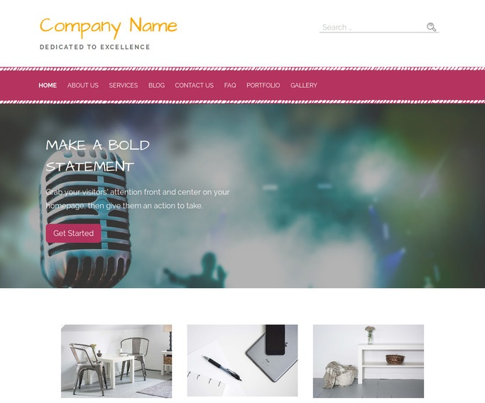 Scribbles Music Production WordPress Theme