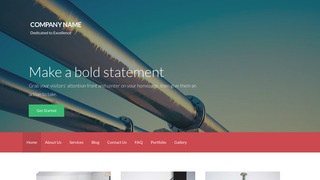 Activation Natural Gas Supplier WordPress Theme