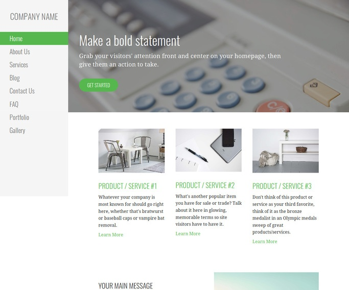 Escapade Office Equipment WordPress Theme