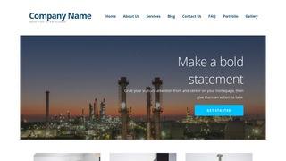 Oil and Gas Field Equipment WordPress Themes | GoDaddy