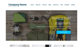 Ascension Camping and Outdoor Gear WordPress Theme