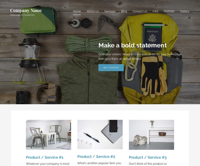 Lyrical Camping and Outdoor Gear WordPress Theme