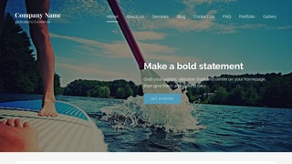 Lyrical Paddle Boarding WordPress Theme