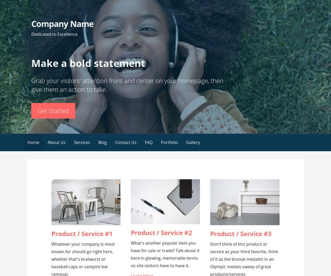 Primer Parks and Recreation WordPress Theme