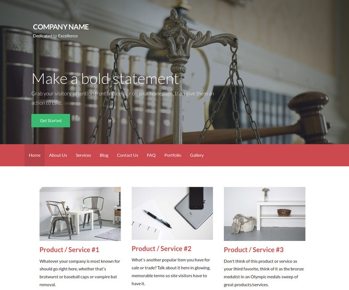 Activation Patent Law WordPress Theme