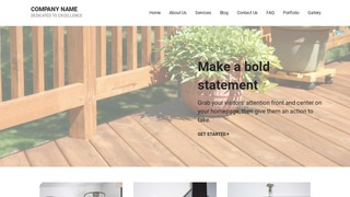 Mins Patio Builder and Supplier WordPress Theme