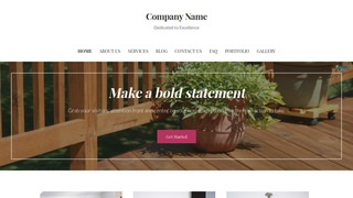 Uptown Style Patio Builder and Supplier WordPress Theme