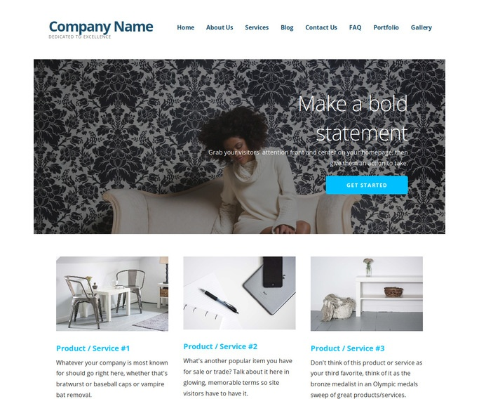 Ascension Personal Website WordPress Theme