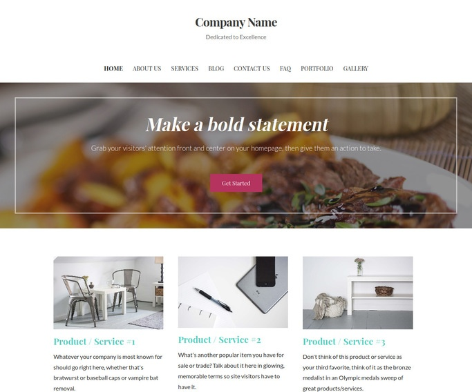 Uptown Style Personal Chef WordPress Theme