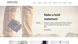 Mins Photography WordPress Theme