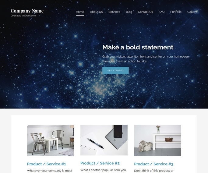 Lyrical Planetarium WordPress Theme