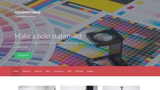 Activation Printing WordPress Theme