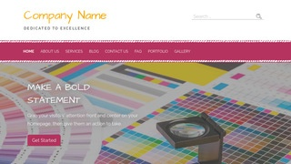 Scribbles Printing WordPress Theme