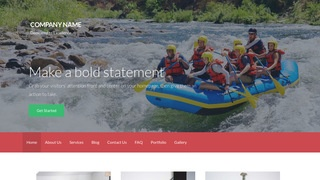 Activation Raft Trip Outfitter WordPress Theme