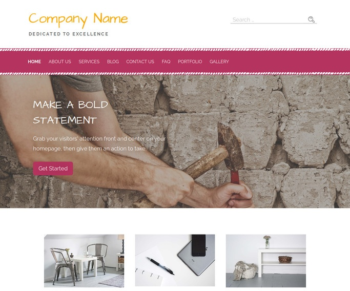 Scribbles Roofing WordPress Theme