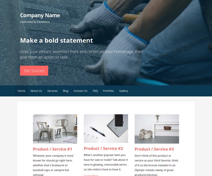 Primer Roofing Supplies WordPress Theme