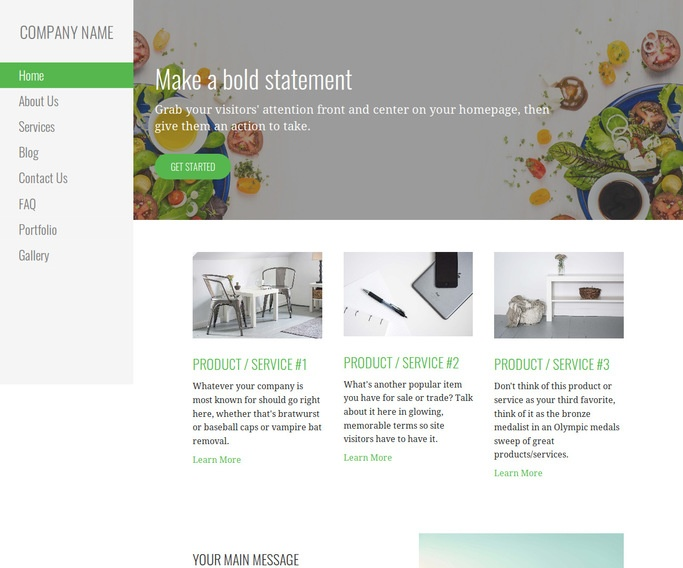 Escapade Salads WordPress Theme